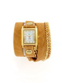 Women's Camel Glam Multi Wrap Watch by La Mer Collections at Gilt