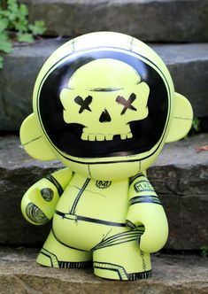 Glow in the dark Mega Munny ghost astronaut