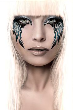 Here we share 21 simple & beautiful angel halloween makeup, costume ideas with tutorial, videos & pictures. enjoy your angel halloween look. Cosplay Makeup, Costume Makeup, Fantasy Makeup, Fantasy Art, Photoshop Effekte, Costume Ange, Tinkerbell Makeup, Makeup Art, Eye Makeup