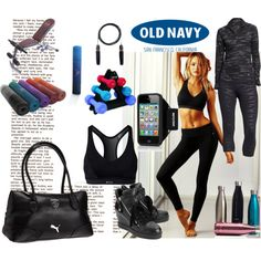 Play ON With Active by Old Navy by coppin-s on Polyvore featuring Old Navy, Shock Absorber, Ash, Puma and Incase