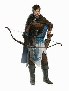 Female Archer - Pathfinder PFRPG DND D&D d20 fantasy
