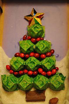 Egg carton christmas tree xmas craft pinterest trees Egg tray craft ideas