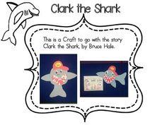 Shark Craftivity/ Ocean / School Rules by BB Kidz Clark The Shark, Bus Crafts, Shark Craft, Kindergarten Crafts, Back To School, Bb, Ocean, Sharks, Summer
