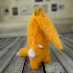 Fox with goose stuffed toys cute fox Amigurumi от MiracleStore
