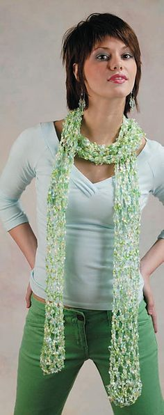 Ravelry: One + One - Crocheted Scarf pattern by Marilyn Coleman