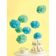@Overstock - Create fun and festive party decorations with these beautiful paper pom-poms. This package contains eight unassembled tissue paper pom-poms in two sizes.http://www.overstock.com/Crafts-Sewing/Martha-Stewart-Celebrate-Paper-Pom-poms/5592306/product.html?CID=214117 $9.82