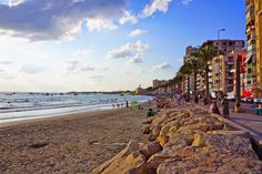 The beach and Corniche in Tyre, South Lebanon.