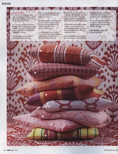 House & Home -May 2012  Page 98  Kravet  Pillow A  31726.17  Fabric B  W72781