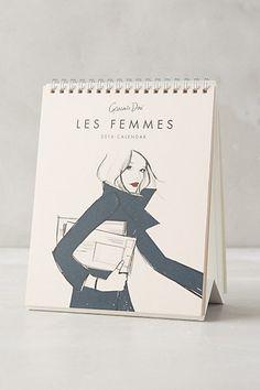 For Her: The Under $20 Secret Santa gift exchange between the girls at work? } $18 Les Femmes 2016 Desk Calendar #anthropologie
