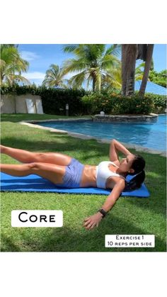Full Body Gym Workout, Abs Workout For Women, Fitness Goals, Fitness Tips, Fitness Motivation, Abdominal Exercises, Core Exercises, Gym Workouts, At Home Workouts