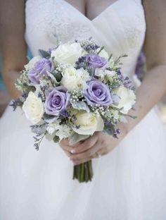 Bridal bouquet, ivory bouquet, lavender bouquet, wedding bouquet, spring bouquet, summer bouquet, el