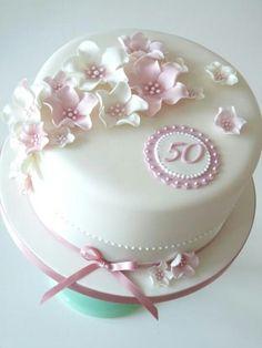 FIESTAS TEMA 50 ANOS 75th Birthday Cakes Round Elegant