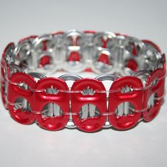 Red Crown Royalty Tab Stretchy Pop Can Tab Bracelet by eclecticKel