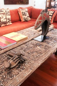 http://www.pinterest.com/joliesarts ∗ »☆Elysian-Interiors ♕Simply Divine #Interiordesign ~ Interior ~ African ~ ethnic ~ accents ~ Kuba cloth pillows