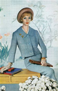 1959 Suit by Alvin Handmacher_ Photograph by Louis Dahl-Wolfe
