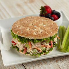 Tuna or Salmon Salad Sandwich Thins #seafoodswap
