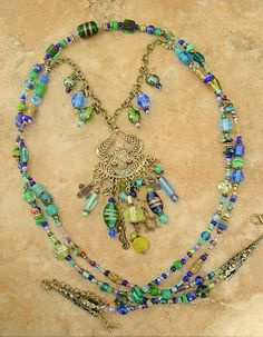 Bohemian Necklace Indie jewelry Long Layered by BohoStyleMe