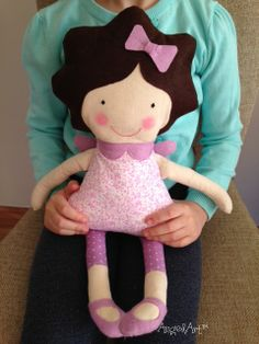 From doodles to dolls...Here is AngelArt™Sofie as a doll #handmade #doll #cute