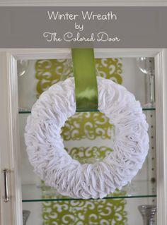 Winter Wreath -the colored door