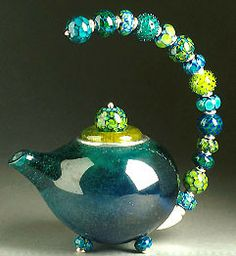 teal teapot 2000 by kristina logan