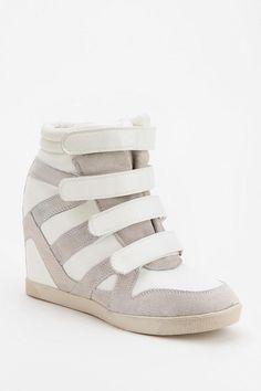 BDG Quarter-Strap High-Top Wedge-Sneaker $29.99