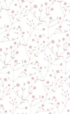 Maija Isolan Illalla-kuosin herkät roosat kukat valkoisella pohjalla vievät ajatukset maalle ja kesäisille niityille.