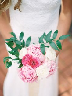 a little bouquet full of some of our favorites #pink #peonies #ranunculus Photography by chelseascanlan.com, Floral and Design by http://bonwed.com  Read more - http://www.stylemepretty.com/2013/09/19/garden-inspired-photo-shoot-from-chelsea-scanlan-photography/