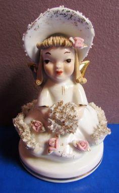 Vintage-LEFTON-808B-Miss-Muffet-Figurine-4-in-Excellent-Condition