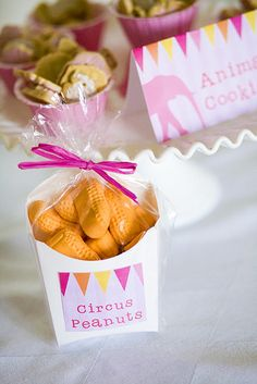 Cute! - more circus than zoo but still cute and love the banners on the animal cookies.