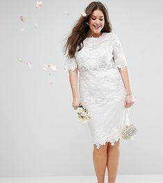 Awesome 38 White Plus Size A-Line Lace Shift Dress https://outfitmad.com/2018/04/24/38-white-plus-size-a-line-lace-shift-dress/