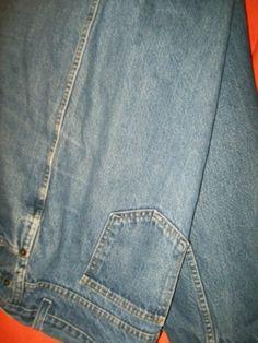 W42 L32 dark blue distress look JEANS darker than pic