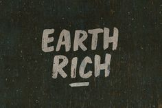 Earth Rich by BLKBK on @creativemarket