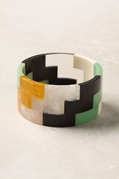 soft ring made of colored resin in hard edge designs