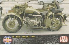 1937 FN (Factory Nationale, Belgium) Model: M 12, 992cc