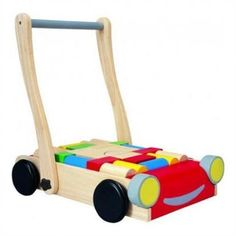 This wooden baby walker from Plan Toys also includes a set of colorful and natural wooden blocks that kids will love! Shop Our Green House for more eco-friendly toys and games for kids of all ages!