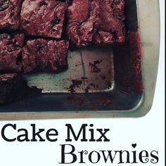 Yeah. I totally made some of the best brownies. EVER. With a cake mix. A cake mix! #linkinbio  #foodblogger #foodblog #recipe #recipes #chocolate #yum