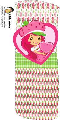 Alfabeto de Strawberry Shortcake con fresas y flores. | Oh my Alfabetos!