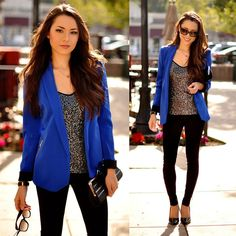 outfits de mujer color azul - Google Search