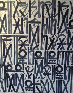 Screen shot by Retna. Using hieroglyphics to paint.