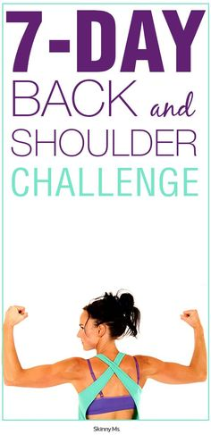 The 7 Day Back and Shoulder Challenge offers something we all would love to have, a sculpted back and shoulders, minus the extra fat. #backworkout #shoulderworkout