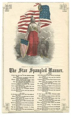 the star spangled banner vtg print    how cool is this