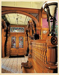 Inside The William Carson Mansion   Constructing Compound Trim And Woodwork    Old House Web Blog