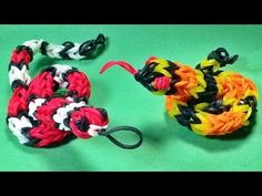 Rainbow Loom SNAKE (3D. Designed and loomed by DIY Mommy. Click photo for YouTube tutorial. 05/15/14.
