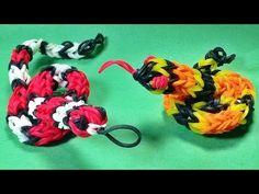 Rainbow Loom Charms: Snake (3D) DIY Mommy Animals