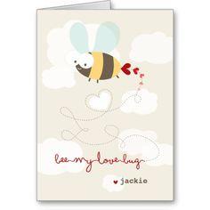 Cute Cartoon Bee Mine Love Valentine Photo Card