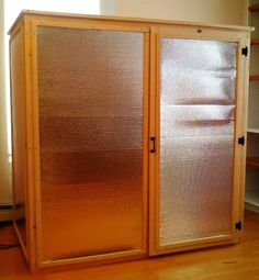 More permanent looking DIY Infrared Sauna setup