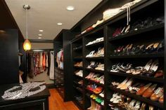How many pairs of shoes could you fit in this closet?