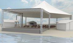 So soll es im Sommer 2015 aussehen: Blick vom See aus auf die Bühne und den erhöhten Zuschauerbereich dahinter