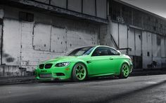 Bmw M3, Green M3, E92, tuning, sport coupe, Green Bmw