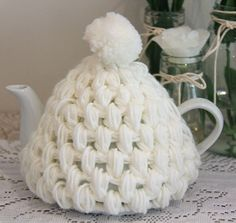 ❥Knit & Crochet Tea Cosies, Mug Hug Snugs and Cuppa Cosies. teacosy